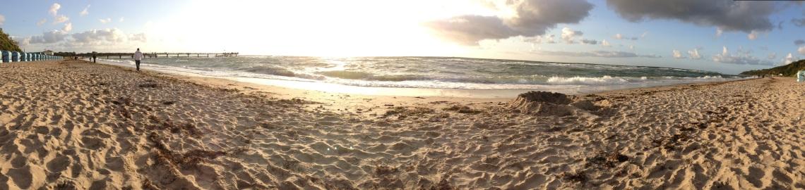Der Strand vor unserer Ferienwohnung
